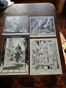 1980 Vintage P. CRAIG RUSSELL Signed/#'d 379/1200 Set Of 4 Fantasy Art Prints