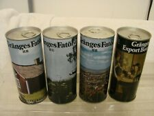 (4) Diff. 16 Oz. Granges Fatol & Export Iii Pull Tab Beer Cans Tabs Intact Nice