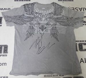 Fedor Emelianenko Signed Affliction Shirt PSA/DNA COA Pride FC StrikeForce Auto