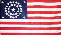 34 Star CIRCULAR 3x5 ft UNION CIVIL WAR FLAG 1861-1863 Print Polyester Flag