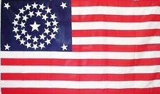 34 Star CIRCULAR 3x5 ft UNION CIVIL WAR FLAG 1861-1863 Print Polyester Flag