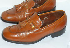 Vintage 1970s Florsheim Imperial Slip-On Dress Shoes With Buckle & Tassel! 7.5 E