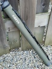 Greys Xf2 Fly Rod Travel Carrying Hard Case Tube W/ Shoulder Strap & Handle