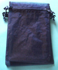 10 large blue organza gift pouches/bags with drawstring