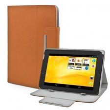 Schutz Hülle Tasche f. TrekStor SurfTab xiron 7.0 3G Case Etui Leder-Optik braun