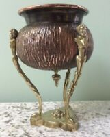 Art Nouveau copper bowl Late 19th Century by Raulin Table centre piece