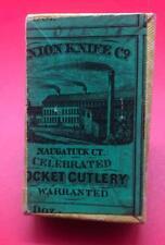 OLD ANTIQUE VINTAGE UNION KNIFE CO NAUGATUCK EMPTY POCKET KNIFE BOX