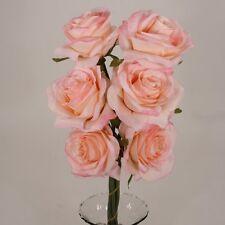 6  Open Roses Wedding Rose Silk Flower #00243763 Choose Color