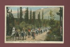 Canadian ethnic Rockies BANFF native Indian Sports c1930/40s? PPC