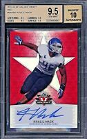2014 Leaf Valiant Draft Khalil Mack Red 1/1 BGS 9.5 10 True Gem Rookie Auto RC