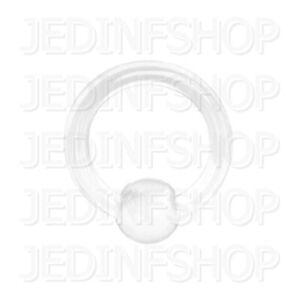 Retainer Hider - BCR Hoop Ball Closure Ring CBR | 2.4mm (10g) - 12mm | BioFlex