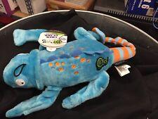 goDog Amphibianz Tough Plush Extra Large Dog Toy with Chew Guard Technology