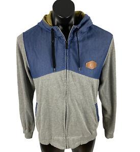 Men's OAKLEY hoodie size M full zip L/S draw string hood cotton polyester blend