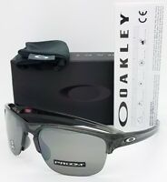 NEW Oakley Sliver Edge sunglasses Grey Prizm Black AUTHENTIC 9413-0365 Half Rim