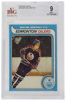 Wayne Gretzky 1979-80 Topps #18 Edmonton Oilers Hockey Card BGS Mint 9