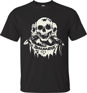 "DISCHARGE ""3 SKULLS"" T-SHIRT OFFICIAL Men's & Ladies punk rock hardcore D-BEAT"