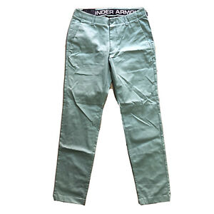 NWT Under Armour Tapered Stretch Green Mens Golf Chino Pants Size 32x32 A016