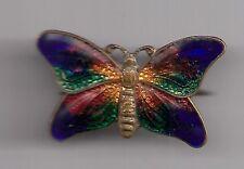 butterfly enamel badge brooch 1950s?