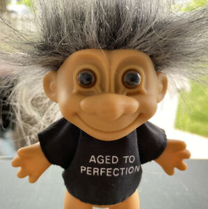 """Vintage Russ 8"""" Aged to Perfection Troll Doll"""