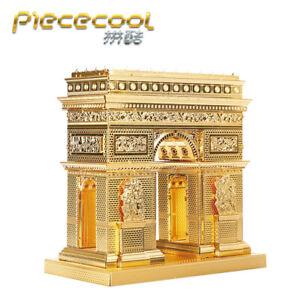 Arc De Triomphe - Gold 3D Metal Puzzle Model Kits Assemble Jigsaw Toys