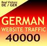 +40000 deutsche Website Aurufe Besucher Organic target german web traffic DE/GER