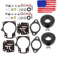 2PCS Carburetor Rebuild Repair Kit For Johnson Evinrude 45 48 50 55 70 75 hp