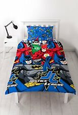 Justice League Inception Set Housse de couette Simple Rotatif Enfants