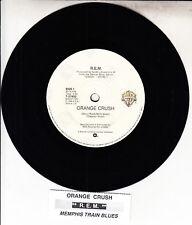 """R.E.M. (REM)  Orange Crush & Memphis Train Blues  45 7"""" record + juke box strip"""