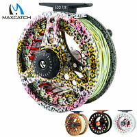 Maxcatch 3/4wt 5/6wt 7/8wt Pre-Loaded Fly Fishing Reel with Line Combo
