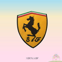 Ferrari Car Brand Logo Embroidered Iron On Patch Sew On Badge