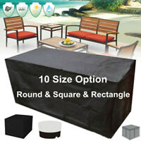10Size Garden Patio Furniture Table Cover Waterproof Rectangular Outdoor  CN