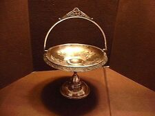 Antique Victorian Middletown Silver Plate Co. Engraved Brides Basket Cake Stand