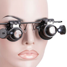 20X Jewelry Magnification Magnifying Glasses Loupe Magnifier with LED Light New