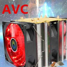 New For LGA 1155 775 AMD--Aluminum PC LED Dual Tower FAN CPU Cooler Heatsink