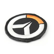 Over Watch Round Black Embroidered Airsoft Paintball Patch