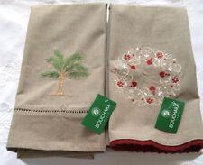 2 New Bouchara French  Cotton Tea Towels  Bouchara Paris France