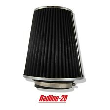 """Black Universal Cone Truck Cold Air Filter Replacement (3.5"""" / 80 mm) Inlet"""