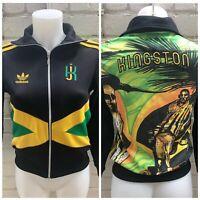 Rare Adidas Originals Jamaica Track Top Size Small Women's Jacket Rasta Kingston