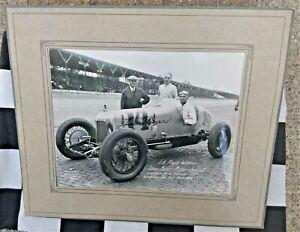 LOUIS MEYER SIGNED PHOTO 1928 INDIANAPOLIS MARI HULMAN GEORGE ESTATE INDY 500