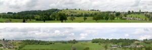 Derbyshire village N gauge Backscene (9''x10') – Art Printers ID203N