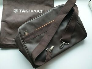 TAG Heuer Brown Faux Leather Sling Bag in Dust Bag