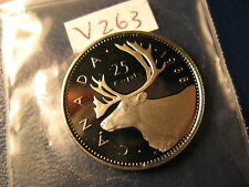 Canada 1988 25 Cent Gem Perfect Coin From Mint Set ID#V263.