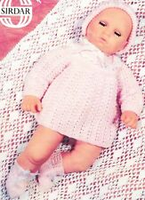 """ANGEL TOP, BONNET & BOOTEES for 22"""" doll  Reborn COPY doll knitting pattern"""