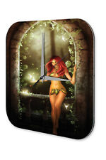 Wall Clock Fantasy Gothic Fairy Fairies Forest Decorative Acrylglass