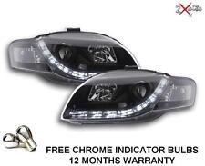 AUDI A4 05-08 B7 BLACK LED DRL R8 DEVIL EYE PROJECTOR HEADLIGHTS SALOON AVANT
