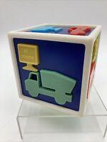 "Vintage 1970s Toy Form Fitter Sorting Cube Set Transportation 4"" Rare HTF"