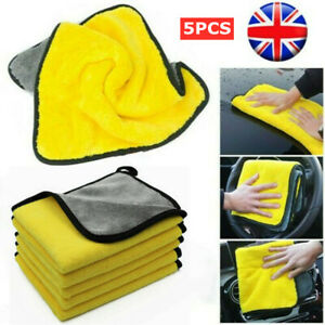 5X Super Absorbent Car Wash Cleaning Cloths Microfibre towels Polisher Drying YY