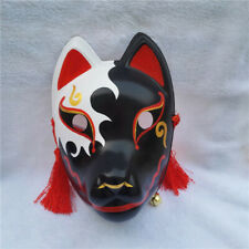 Full Face Hand Painted Japan Fox Mask Kagerou Kitsune Party Cosplay PVC Mask