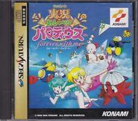 Konami Jikkyou Osyaberi Parodius Forever With Me Sega Saturn JAPAN Used SS