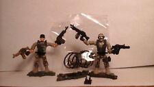 mega blocks, mega construx,2 call of duty soldiers, 4, weapons LOOK!
